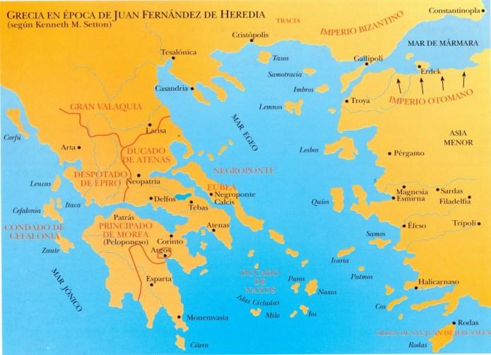 mapa Grecia de Heredia