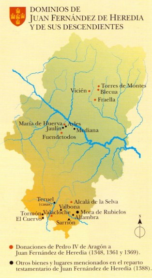 posesiones de Juan de Heredia