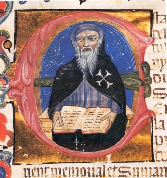 Retrato de Heredia del primer folio de la Grant crónica de Españya