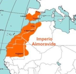 Mapa del Imperio Almorávide