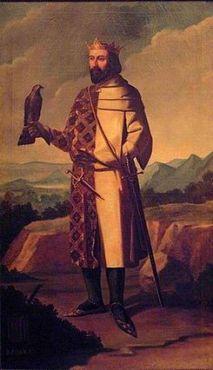 Retrato imaginario de Juan I de Aragón de Manuel Aguirre y Monsalbe del siglo XIX