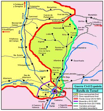 Evolución del Frente de Teruel