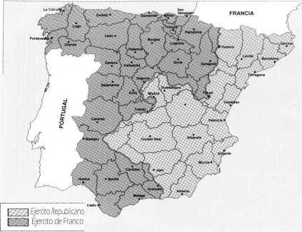 Situación de España en diciembre de 1937