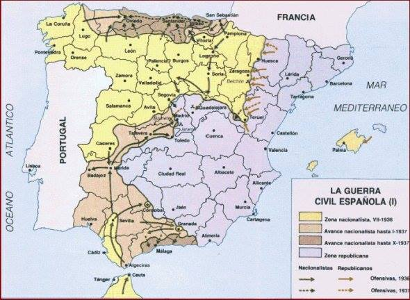 mapa Guerra Civil 1