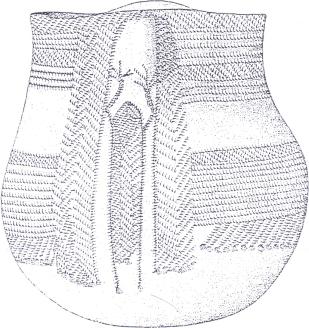 cerámica neolítica con orante