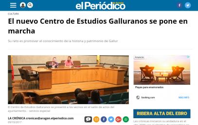 Inauguración del Centro de Estudios Galluranos