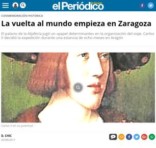 Periódico de Aragón. Noticia vuelta al mundo Magallanes