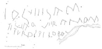 inscripción en alfabeto latino