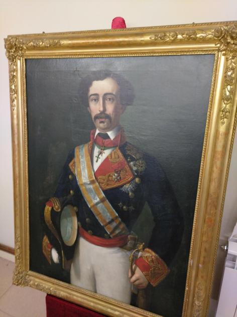 Óleo sobre lienzo del general Ortega